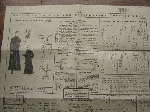 How To Sew A Cassock Veronica S Miscellaney