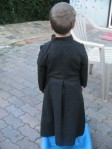 Back view of small prototype cassock